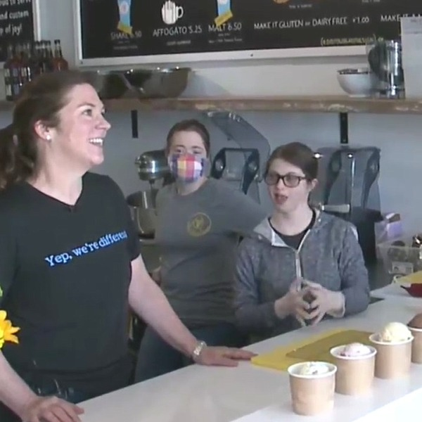 Picture of workers at the Golden Scoop