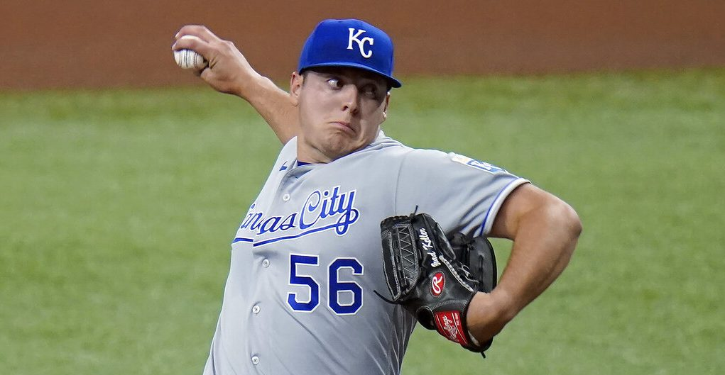 Picture of Brad Keller pitching