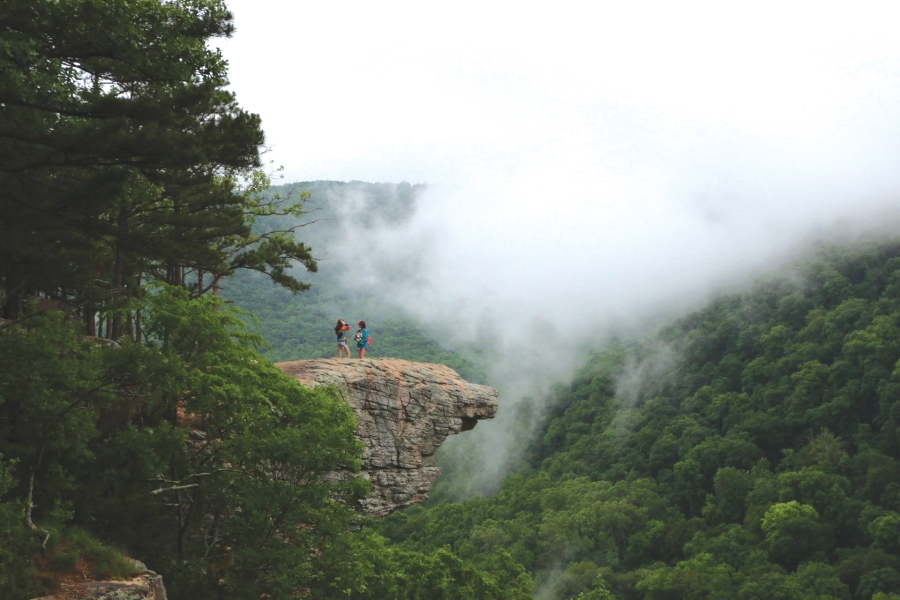 Picture of hikers on Hawksbill Trail