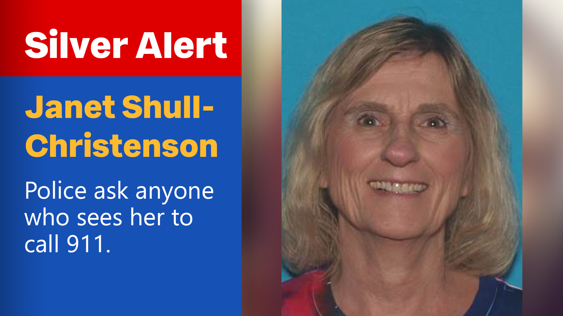 Silver Alert for Janet Shull-Christenson