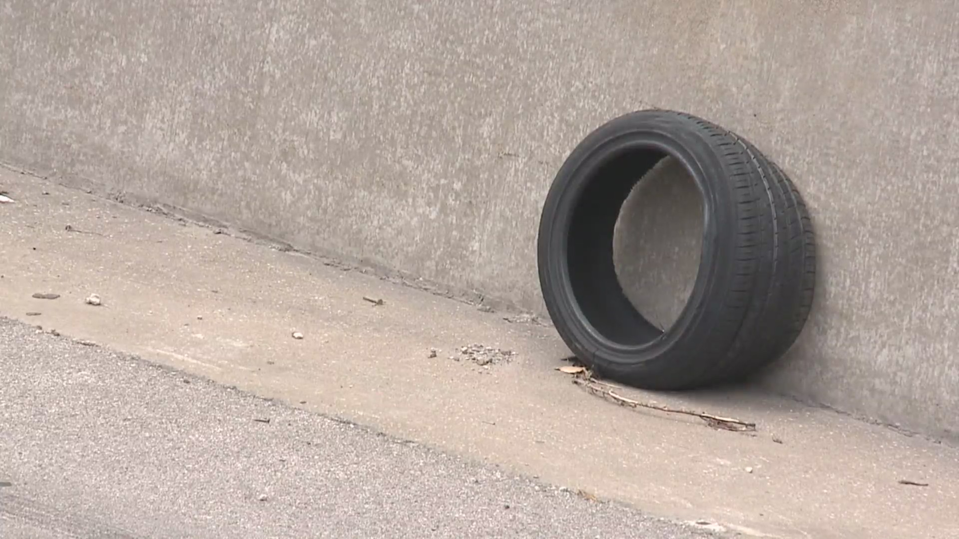 roadway debris tire