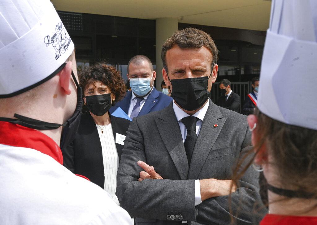 Picture of Emmanuel Macron in France