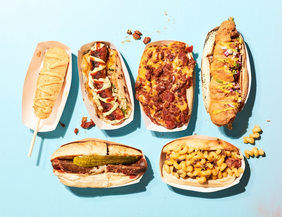 """Picture of """"extra"""" hot dogs"""