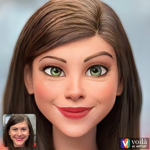 Voila depiction of Michelle Bogowith