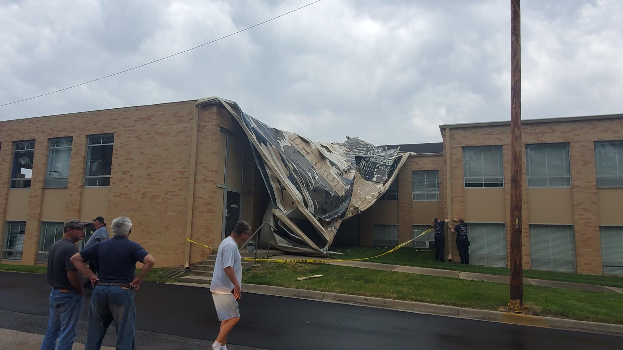 Harrisonville First Baptist Church storm damage