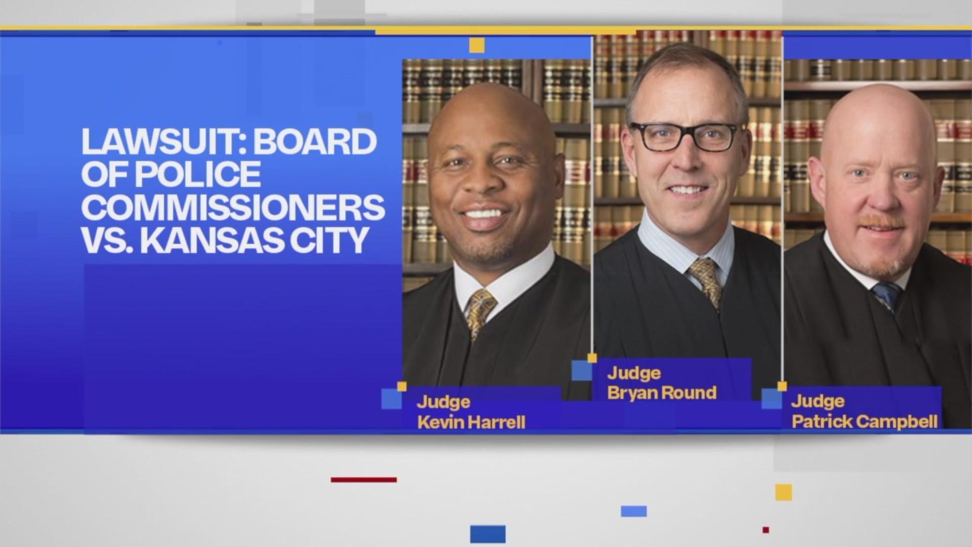 police funding lawsuit judges