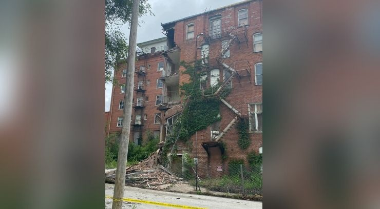 Royal Hotel partial collapse