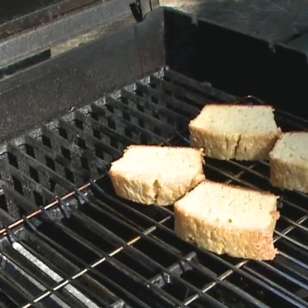 Picture of pound cake on the grill