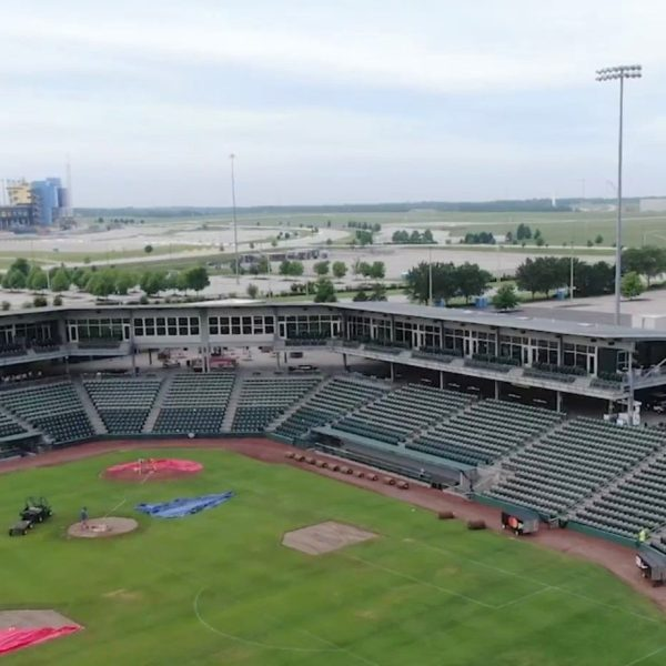 Drone picture of Legends Field