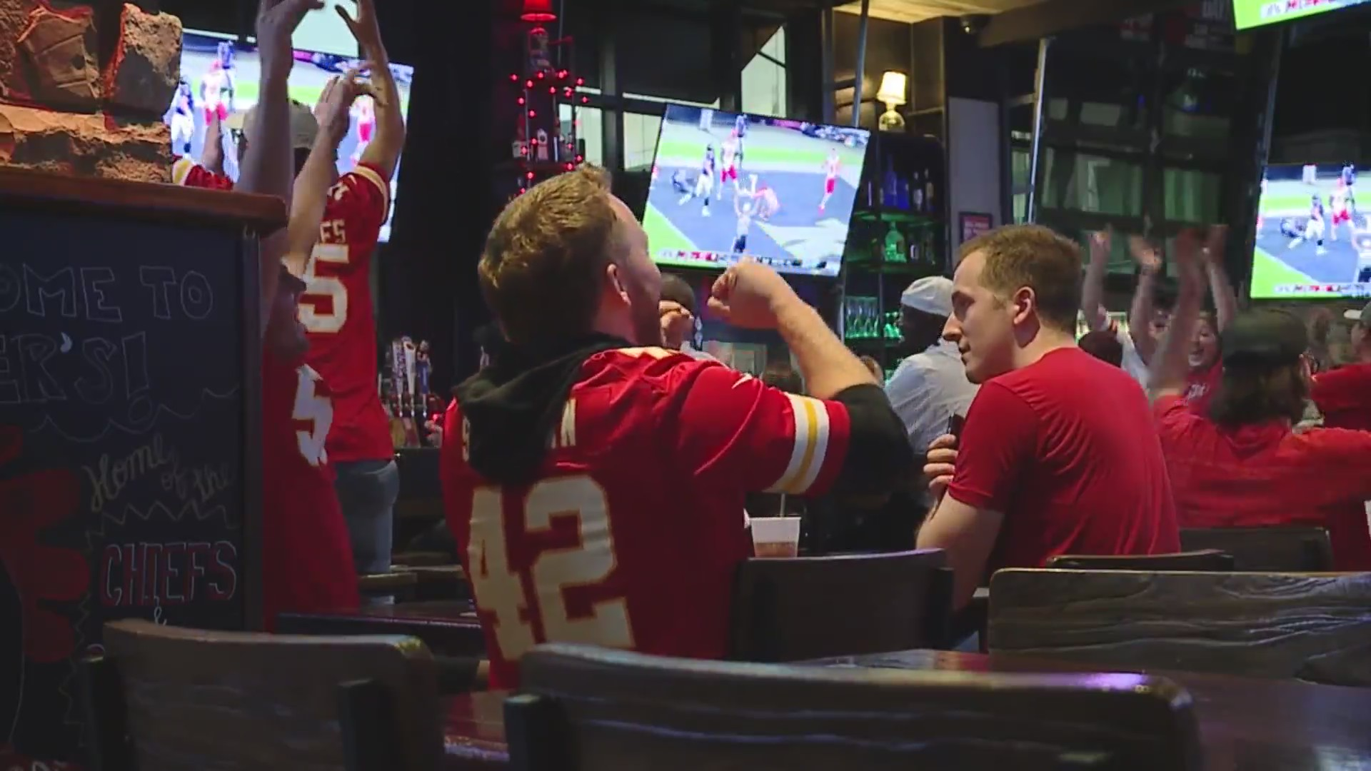 Chiefs fans cheer
