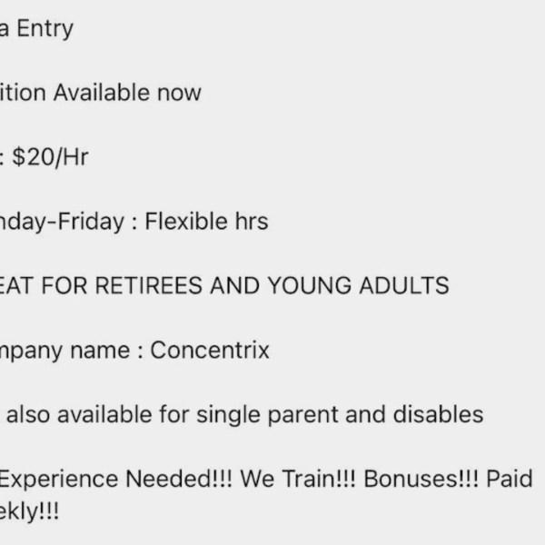 Concentrix job scam